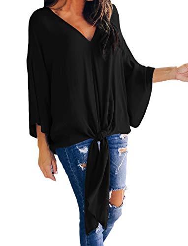 Top Shirts tunika bluzki Blusentop damska koszula unikalne koszule bluzka damska bluzki długi rękaw jesień wyprzedaż damska luźna swobodny jednolity kolor jednolity kolor