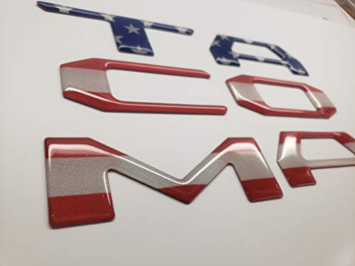 FITS TOYOTA TACOMA 2016 2017 2018 2019 REFLECTIVE AMERICAN FLAG TAILGATE RAISED LETTERS