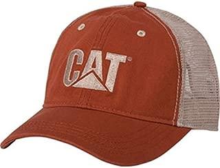Cat Orange Twill/Tan Mesh-CAT Hat