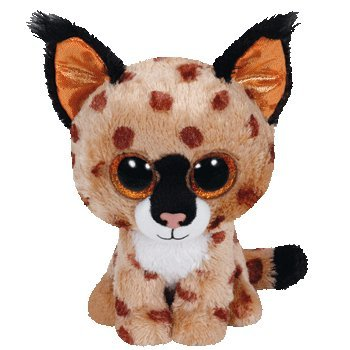 Ty Beanie Baby, BUCKWHEAT - brown lynx