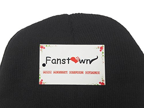 Fanstown Kpop Logo Beanie 3D Embroidery Knit Beanie hat with lomo Cards