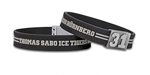 BRAYCE® Nürnberg Ice Tigers Armband mit Deiner Trikot Nummer 00-99 I Eishockey pur mit dem Icetigers Trikot am Handgelenk personalisierbar & handgemacht