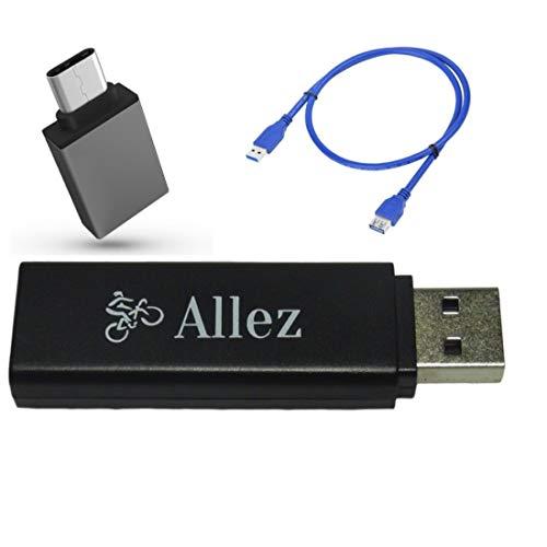 【Allez】ANT+ USB ドングル スティック Zwift 自転車 フィットネス トレーニング GARMIN 互換