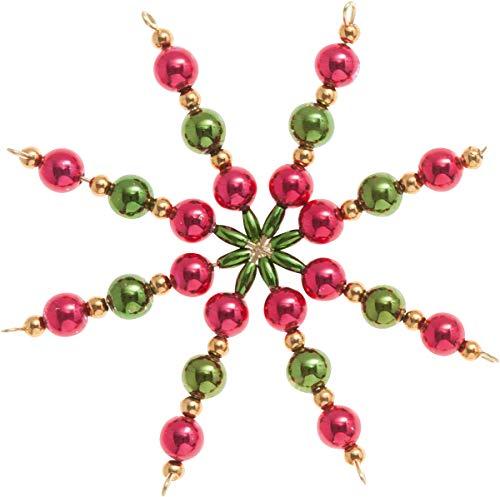 Perlenstern-Bastelset Classic 5er-Set 10cm Perlensterne Weihnachtssterne