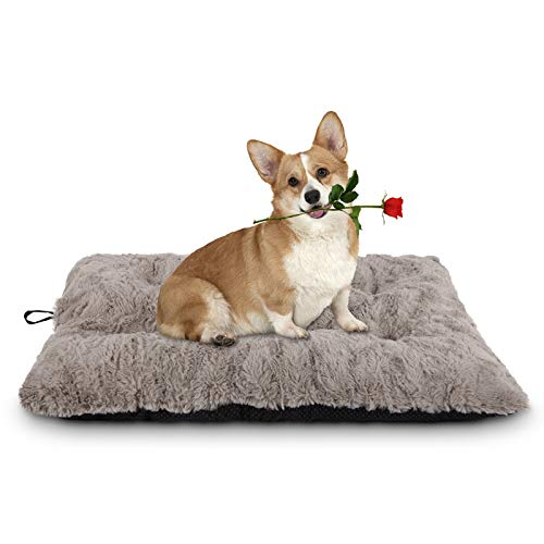 JOEJOY Dog Bed Crate Pad, Anti Slip Pet Mattress Tufted Kennel Sleeping Mat 24/30/36/42 Inch Washable for Large Medium Small Dogs and Cats (23''x18'') Categories Dining Features Kitchen