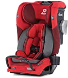 Diono Radian 3QXT 4-in-1 Rear and Forward Facing Convertible Car Seat, Safe Plus Engineering, 4 Stage Infant Protection, 10 Years 1 Car Seat, Slim Design - Fits 3 Across, Red Cherry