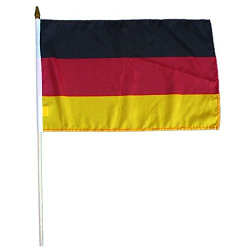 IDM Stockfahne, Fahne, Flag, Flagge, 30 x 45 cm Deutschland, ohne Adler, Germany, im 5er Set