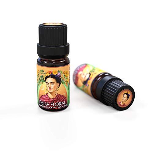 Ecodrop - Aceite esencial puro Frida Floral para mente, cuerpo y piel, mezcla de 5 aceites (lavanda, ylang-ylang, palmarosa, mandarina, limón) con suaves notas florales y cítricas, 10ml