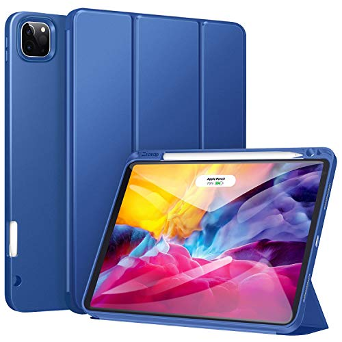 ZtotopCase for New iPad Pro 11 2020 Case with Pencil Holder, Support iPad 2nd Pencil Charging & Pair, Auto Sleep/Wake, Full Body Protective Rugged Shockproof Case for iPad Pro 11 2020 - Navy Blue