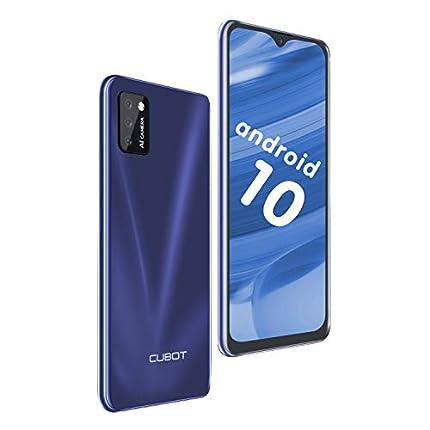 "Teléfono Movíl Libre 4G,CUBOT Note 7 Smartphone,Android 10 Original,5.5"" Pantalla Water-Drop, 2GB+16GB(128GB SD),Móvil Barato,3100mAh Batería,Dual SIM,Cámara Triple,Face ID,CUBOT Oficial, Azul"
