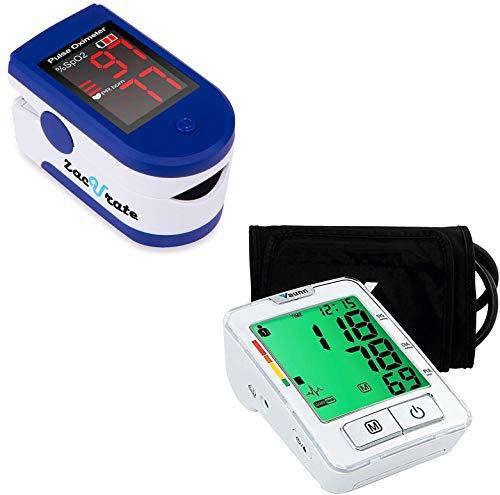Zacurate 500CL Fingertip Pulse Oximeter and Vaunn Blood Pressure Monitor Bundle