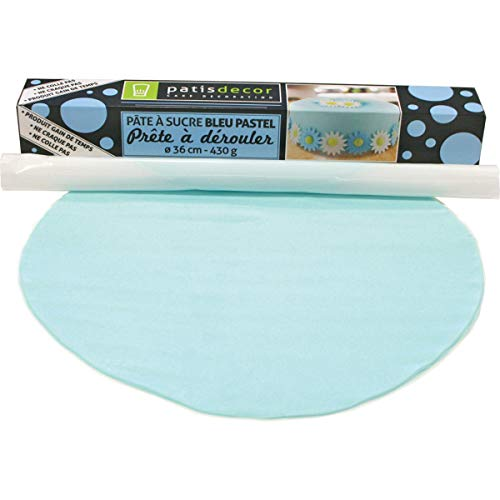 PATISDECOR Pate à Sucre Bleu Ciel à Derouler Vanille 430 g