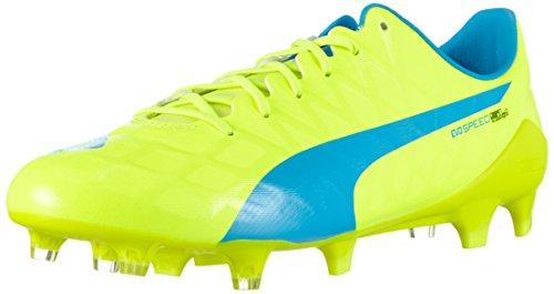 Puma Evospeed SL-S FG, Botas de fútbol Hombre, Amarillo Safety Yellow Atomic Blue White 01, 47 EU
