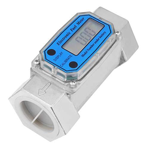 Homyl Digitale Turbine Zähler Durchflußmesser Wasserzähler, LLW-25 / LLW-40 - Blau LLW-40
