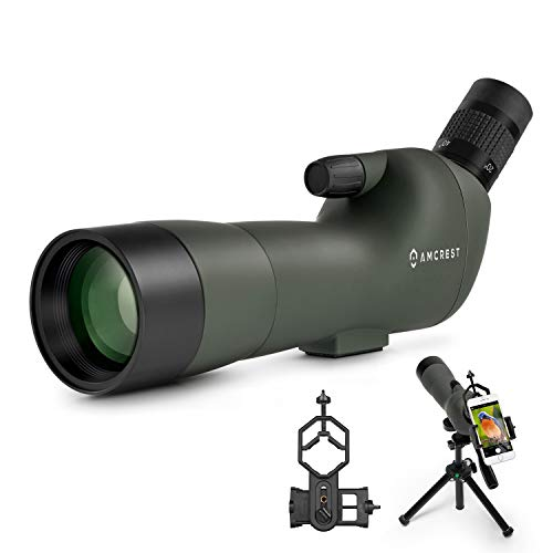 Amcrest Spotting Scope for Target Shooting w/Tripod 20-60x60mm
