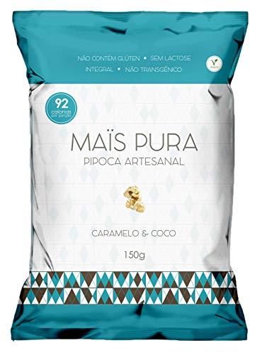 Pipoca Artesanal Sabor Caramelo & Coco Maïs Pura 150gr