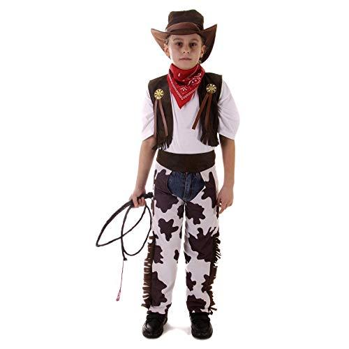 HENBRANDT Costume da Cowboy per Bambini di Grandi Dimensioni età 10 - 12 Anni