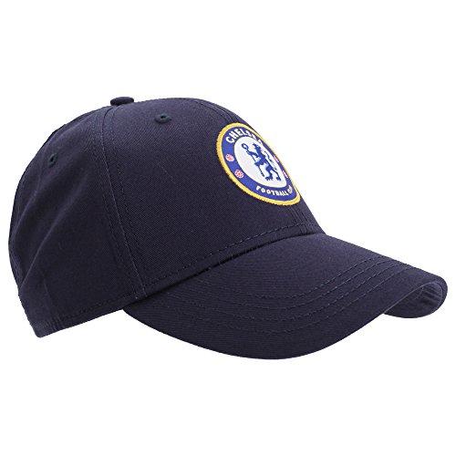 Chelsea FC Unisex Official Football Crest Baseball Cap (One Size) (Navy Blue)