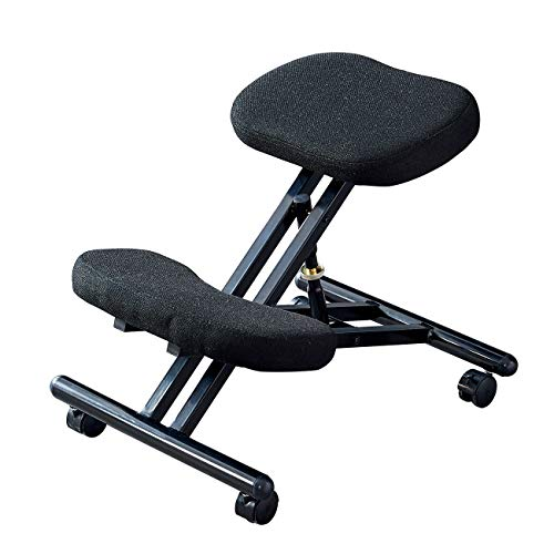 nozama Kneeling Chair with Wheels - Ergonomic Kneeling Chair for Home Office - Adjustable Angled Seat Kneeling Chair with Brake Casters Better Posture Angled Seat