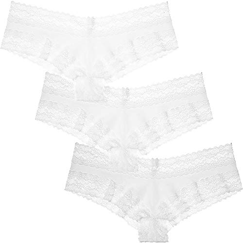 Victoria's Secret 3 Womens Cotton Cheeky Panties (Large, Pattern)