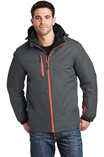 Port Authority Vortex Waterproof 3-in-1 Jacket J332 Magnet/Orange Large