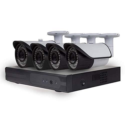 AOEIUV Mini Sistema AHD 1080P para cámaras de Bala con Cable para Sistema de Seguridad para Exteriores e Interiores CCTV 4 CH DVR Kit