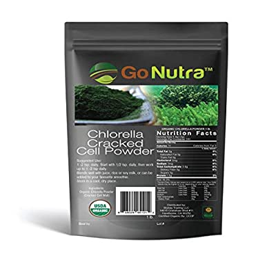 Chlorella Powder 1 lb Organic, raw, Non-GMO. 100% Pure Cracked Cell Wall Green Superfood High Protein Chlorophyll for Smoothie Vegan Supplement