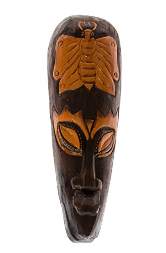 40cm Mascara Careta caratula Decoracion Madera Maske Africa Mariposa HM4000009