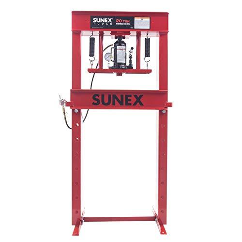 Sunex 5720AH Fully-Welded Manual Hydraulic 20 Ton Shop Press
