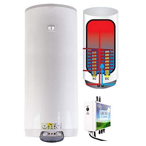 Acumulador de agua caliente híbrido fotovoltaico eléctrico colgante de pared con 1...