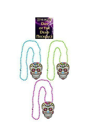 3 Assortis Day of the Dead Halloween Collier