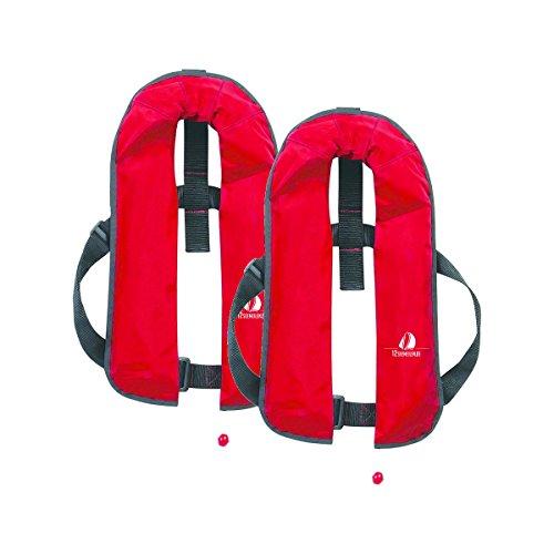 12skipper 2er-Sets Automatik-Rettungswesten 165N/300N ISO UML | versch. Varianten (Rot, 165N Classic)