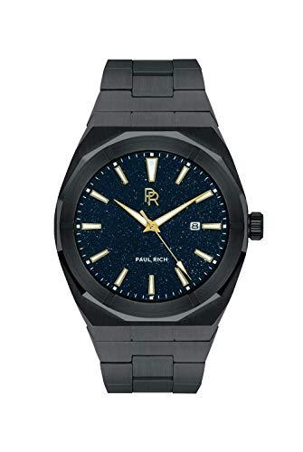 Paul Rich Star Dust Black - Reloj de pulsera automático para hombre (45 mm, acero inoxidable)