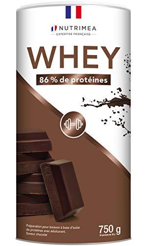 Isolat de protéine de whey - Complément protéiné en poudre saveur chocolat - Pour la croissance...