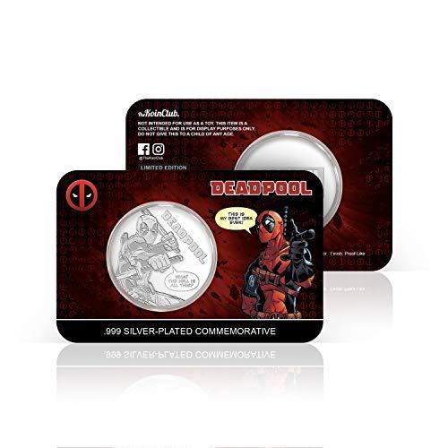 IMPACTO COLECCIONABLES Deadpool Marvel Offizielle Gedenkmünze - Silberbeschichtete 32mm