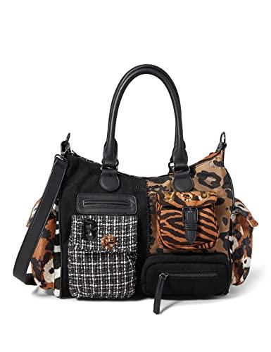 Desigual Womens Accessories Fabric Shoulder Bag, Black, U