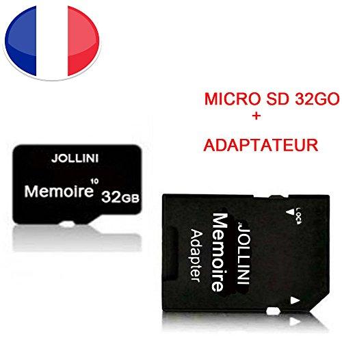 Jollini® voor iPhone X Plus (6,1 inch), micro-SD-geheugenkaart 32 GB, klasse 10 + SD-adapter