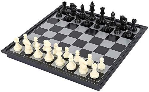 DJRH 9.8 Pulgadas Conjuntos de ajedrez de Viaje magnético con Instrucciones Plegables de Tablero de ajedrez para Principiantes, niños y Adultos