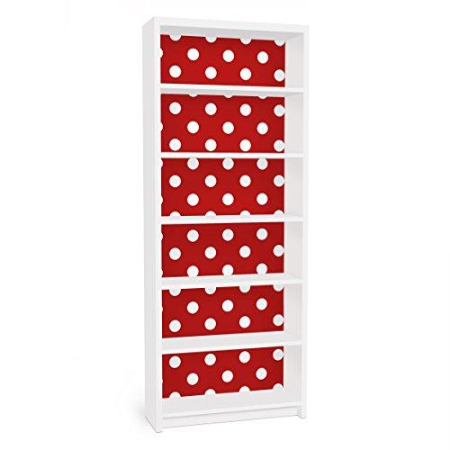 Apalis Vinilo Adhesivo para Muebles IKEA - Billy Bookshelf - no.DS92 Dot Design Girly Red, Größe:2 Mal 94cm x 76cm