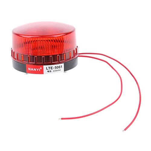 Gazechimp Preuve Industrielle Rouge De Lampe D'alarme AC220V De Lumière De Balise De