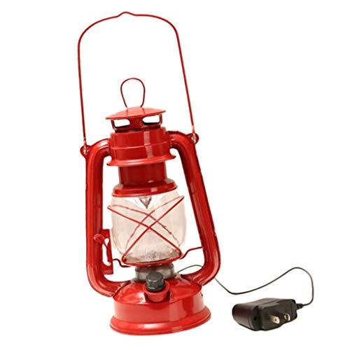 Baoblaze Linterna Vintage con Iluminación LED Recargable para Decoración del Hogar - Rojo, Individual