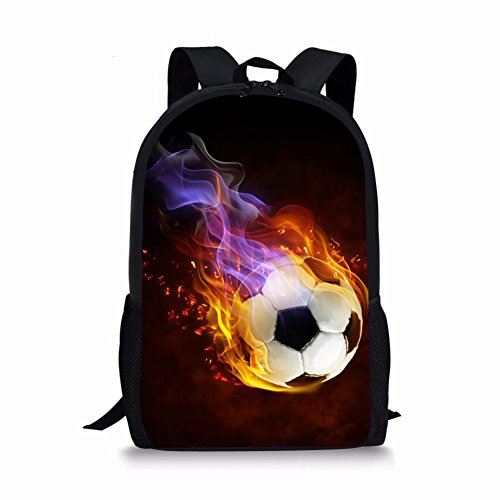 Advocator kühle 3D Fußball Druck Kinder Schule Rucksäcke Fußball Daypack für Kinder Outdoor Gym Sport Rucksack
