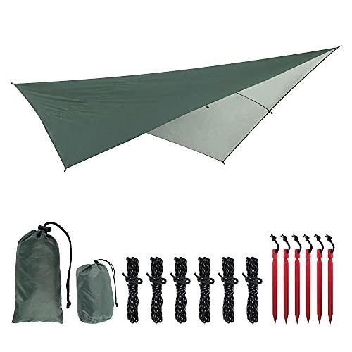 Tienda de campaña al aire libre Refugio Parasol de vela Lona de protección solar Toldo Lona Toldo de emergencia Cubierta de lluvia Paño de sombrilla