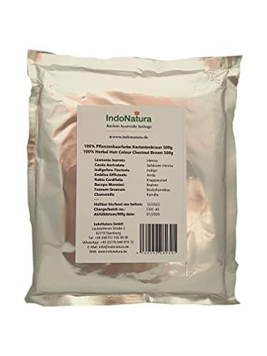 IndoNatura 100% Tinte Herbal Colore castaño 500g