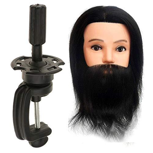 Sharplace Professionnel 100% Vrais Cheveux Longue Humains/Têtes d'exercice Coiffure/Résistante à Haute Température avec Support Trépied
