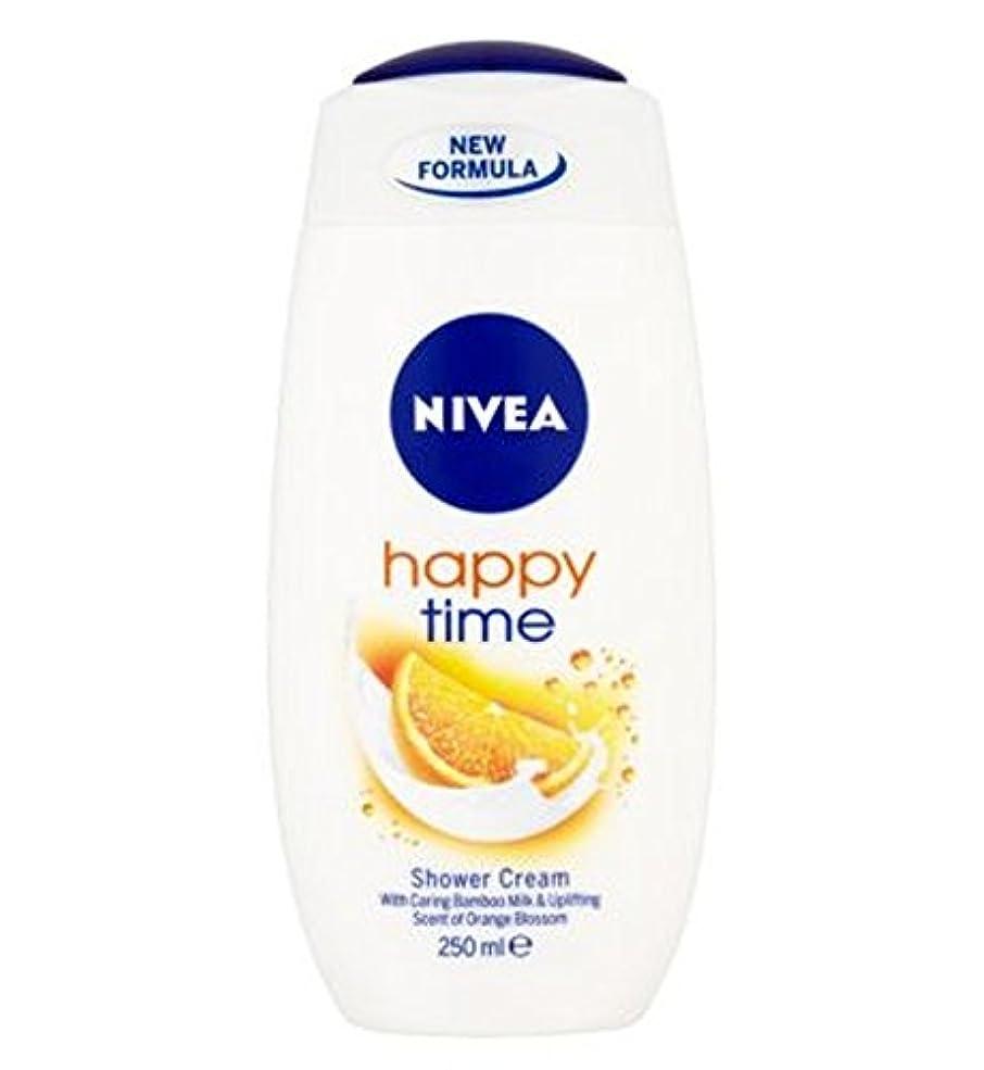硬さ高揚した戦術ニベア幸せな時間シャワークリーム250ミリリットル (Nivea) (x2) - NIVEA Happy Time Shower Cream 250ml (Pack of 2) [並行輸入品]