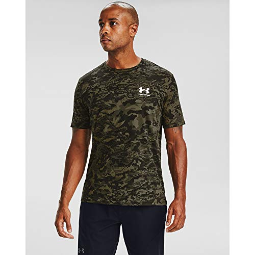 Under Armour Herren T-Shirt ABC Camo Kurzarm, Herren, kurzärmelig, ABC Camo Short Sleeve, Schwarz (001)/Weiß, Large