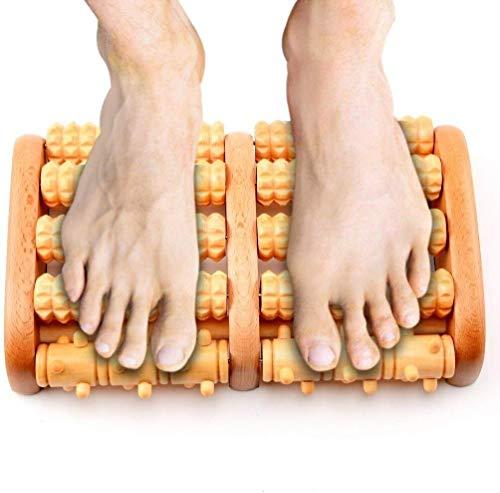Fulinmen Holz Roller Fußmassagegerät, Dewanxin Dual Holz Fußmassagegerät Schmerzlinderung for Fersensporn, Fußschmerzen Fußreflexzonenmassage Relax EntlastungMassager Spa