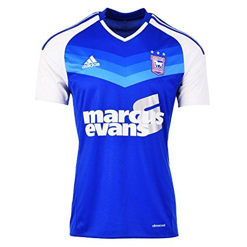 adidas 2016-2017 Ipswich Town Home Football Soccer T-Shirt Trikot