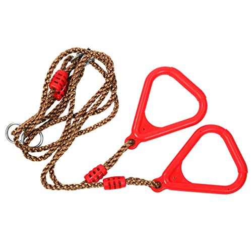 Germerse Pull Up Rings, Plastic Materials Triangular Gym Rings, Bearing up to 120 kg/264.6lb Easy for Cleaning for Children Adults